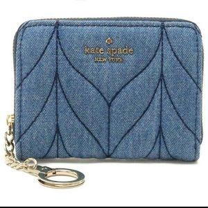 KATE SPADE Briar Lane Quilted Denim Mini Wallet